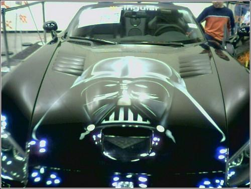 Darth Vader Artwork On Hood