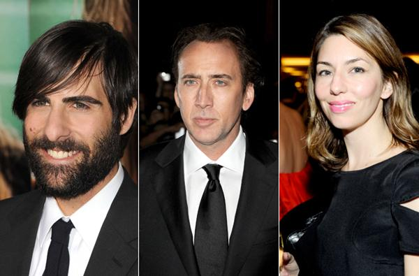 Jason Scwartzman, Nicolas Cage, and Sofia Coppola